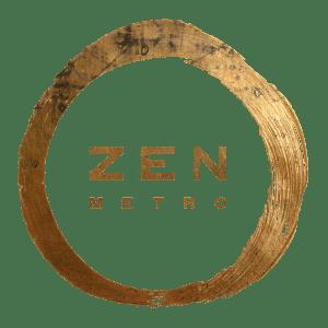 Zen Metro Logo-Brass transparent